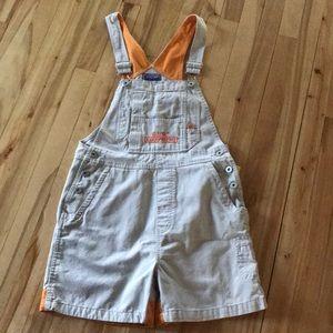 BUM khaki/orange bib shorts, small